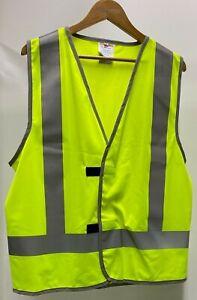 Hi Vis Yellow Vest With Silver Trim