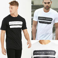 New Mens Jameson Carter King Designer Cotton Crew Fashion T Shirt Tee Casual Gym