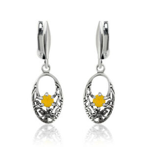 Sterling Silver Oval Shape Earrings Hooks with SWAROVSKI 1088 Chaton Crystals