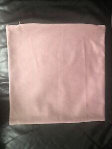 PINK PLUSH VELVET CUSHION COVERS 17 x 17 PAIR 2 BRAND NEW BED SLEIGH DIVAN LUSH