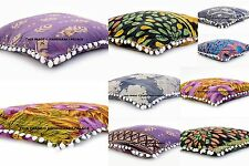 10 PC Indian Cotton Vintage Kantha Stitched Cushion Cover Reversible Pillow Case