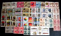 Repubblica -  francobolli in quartina  usati perfetti - Lotto da 68 quartine