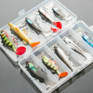 5/10PCS Artificial Lead Fish Pike Fish Jig Fishing Lures Kit Soft Bait Wobbler