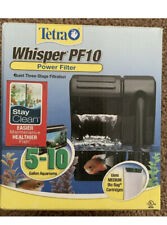 Tetra Whisper PF10 Power Filter, Quiet 3-Stage Filter For 5-10 Gal NEW