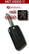 2 Tasten Voiture Clapet clé +LOGO f. Peugeot BOXER PARTENAIRE 107 207 307 407