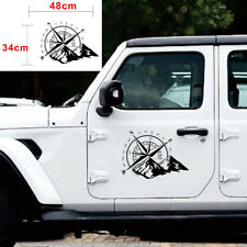 Waterproof 48x34CM Off Road Car Hood Side Body Compass Vinyl Sticker Decal Black