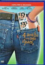 4 AMICHE E UN PAIO DI JEANS - DVD (USATO EX RENTAL) RARO !