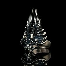 Dragon Age Grey Wardens Ring, handmade, sterling silver / white bronze