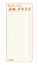Collins Slim Shopping List with Magnetic Back for Fridge Hanging 60 Sheets