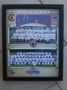 Chicago Cubs 1908 & 2016 World Series Champions Team Photo. 12x15 NEW