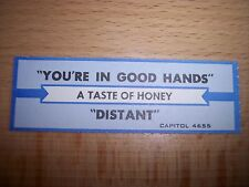 """1 Taste Of Honey You're In Good Hands Jukebox Title Strips Cd 7"""" 45Rpm Records"""