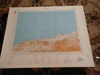 32x25 1962 Map Alger, Algeria Africa Mediterranean Sea Orleansville