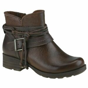 Planet Shoes Leeds Womens Comfort Ankle Boot in Almond Brown Leather