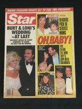 Star Magazine May 10 1988 Burt & Loni's Wedding,Oh Baby Mothers Day Excellent BB