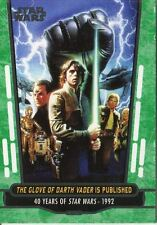 Star Wars 40th Anniversary Green Base Card #76 The Glove of Darth Vader is Pub