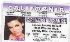 Sandra Bullock  of GRAVITY the Proposal SPEED California Drivers License bulloch