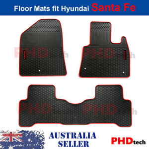 Premium Quality All Weather Rubber Car Floor Mats HYUNDAI SANTA FE 2012-2018 DM