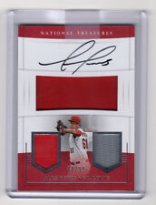 # /99 RC Patch Auto!  ** Alex Reyes **  2017 National Treasures Players  Rookie