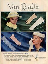 1951 Van Raalte Gloves Great ad Womens Slips Underthings Artwork Decor PRINT AD