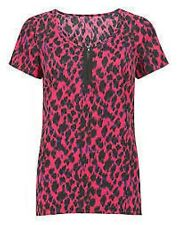 Joanna Hope Animal Print Woven T-shirt Pink Ladies UK Size 20 Box460 C SSS