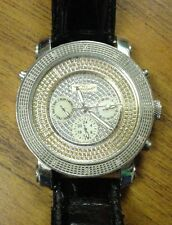 ICE MASTER DIAMOND COLLECTION STAINLESS STEEL QUARTZ BLING WATCH