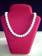collana da donna a girocollo in perle sintetiche di colore bianco avorio