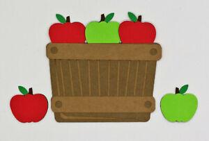 Fall Basket Apples Apple Die Cut Paper Scrapbook Embellishment