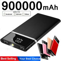 900000mAh Ultra-thin Power Bank Portable Charger External Backup Battery 2USB