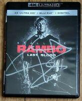 RAMBO LAST BLOOD AUTOGRAPHED 4K ULTRA HD/BLU RAY