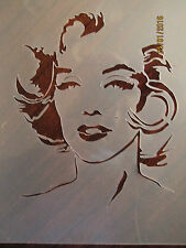 Marilyn Monroe Stencil for Airbrush, Crafting, Cake Decorating, ect.