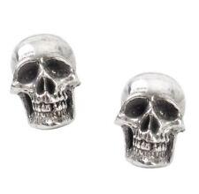 Mortaurium Detailed Skulls Surg Steel Post Studs Earrings E342 Alchemy Gothic