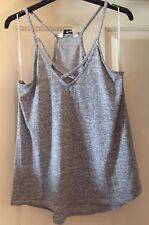 Miss Selfridge Grey Marl Fine Knit Strappy Top, Size 12 - Lovely!
