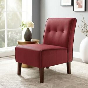 Linon Coco Accent Chair Red Reading Living Room Sun Room Chair