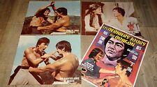 LES DERNIERS JOURS DU DRAGON !  rare photos cinema luxe lobby cards 1972 kung-fu