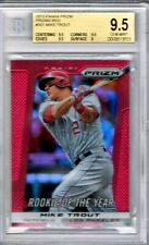Mike Trout 2013 PANINI PRIZM #301 ROOKIE of the YEAR SSP RED BGS 9.5 SCARCE
