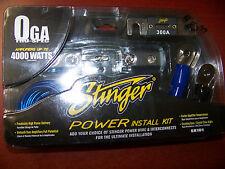 NEW STINGER SK101 0 GAUGE AMPLIFIER 4000 WATT INSTALL ACCESSORY KIT CAR AUDIO