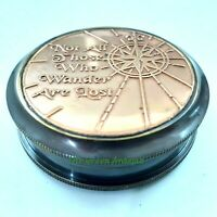 Vintage Brass Pocket Compass Maritime Collectible Gift