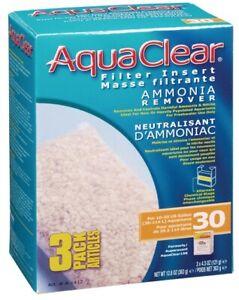 Aqua Clear 30 / 150 - 10-30 gallon Ammonia Remover A-1412 -A1412 -  3 pack