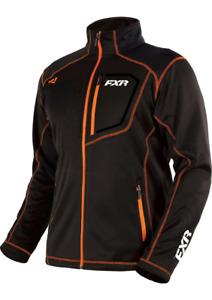 FXR MENS ELEVATION TECH ZIP UP Black Orange JACKET -  Small  - NEW