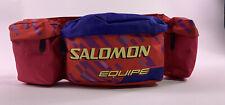 Vintage SALOMON Club Ski Retro Fanny Pack Waist Bag Red Blue 80s 90s Skiing Neon