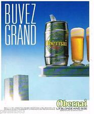 PUBLICITE ADVERTISING 105  1986  OBERNAI   la bière blonde KING SIZE en fut