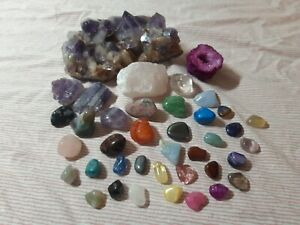 Crystal Mineral Stone Rock Geode Amethyst Healing Collection