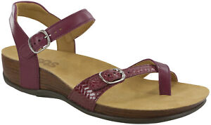 SAS Pampa Sandal Plum / Weave 8 Wide, Women's Shoes