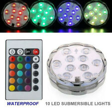 RGB Submersible Lights 10 LED Waterproof Color Changing Remote Controller Decor