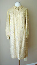 RARE RETRO VINTAGE LILLIE RUBIN BROCADE GUNMETAL RHINESTONE GOLD METALLIC DRESS
