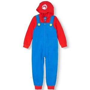 NWT Super Mario Union Suit Pajamas Size 14-16 Boy One Piece Halloween Costume XL