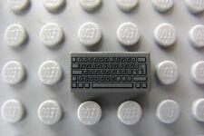 LEGO Dark Bluish Gray Computer Keyboard Complex Patern Decorated Tile