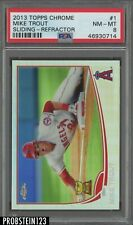 2013 Topps Chrome Refractor Mike Trout Sliding Angels PSA 8 NM-MT