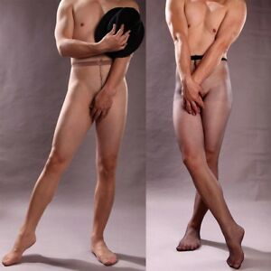 Men's Open/Close Sheath Stockings Pantyhose Tights Underwear Seamless Lingerie
