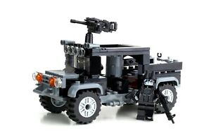 Special Forces Black Operations Gun Truck Military Set made w/ real LEGO® bricks